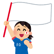 2018.5.30 soccer_flag_woman.png